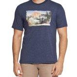 Мужская футболка LC Waikiki темно-синего цвета с надписью на груди Rocky mountain