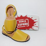 жёлтые солнечные менорки для прогулок у моря, кожаная Испанская обувь, менорки абаркасы