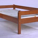 Кровать детская подростковая Эконом натуральное дерево.