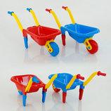 Тачка садовая 2 Большая Технок 1059 тележка для песочницы игрушечная
