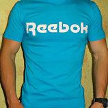 Футболка мужская Reebok бирюза хлопок.