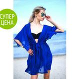 Пляжная туника халатик , 42-44, 46-48 р, 7 расцветок Последний тренд пляжной моды Яркая и стильная