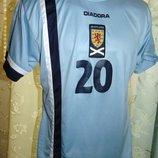 Футбольная оригинал футболка Diadora Диадора зб Шотландии .12-15 лет