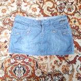 Мини-Юбка джинсовая
