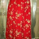 Яркая юбка пояс на резинке на пуговичках р12-WEST LAKE