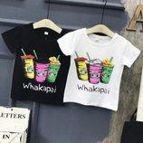 Крутые футболки р. 7-15 черная и белая