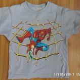 футболка Спайдермен натуральна 3-5 років