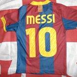 Спортивная фирменная футболка ф.к Барселона .Месси .5-7 лет