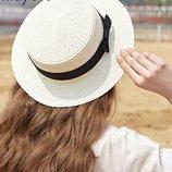 шляпа женская летняя Хит от солнца шляпка панамка соломенная с широкими полями