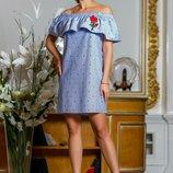 Летнее очаровательное платье 824