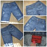 Мужские, стильные ,джинсовые шорты, бриджи от KANGOL батального размера