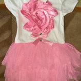 Нарядное платье на девочку 90 см уценка