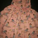 Красивое платье с девочками Bluezoo 2-3г