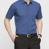 в наличии мужская рубашка LC Waikiki с коротким рукавом ярко-темно-синего цвета