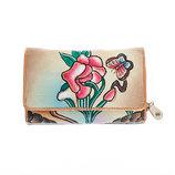Красивый кошелек из натуральной кожи с росписью