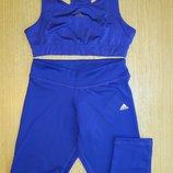 Женский спортивный топ и лосины Adidas ClimaLite