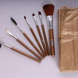Набор кистей для макияжа 7 штук натуральный ворс