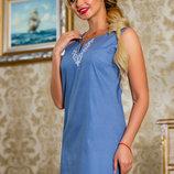 Необычное синее платье 809
