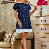 Яркое платье батист прошва 822