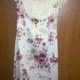 Helena шикарное платье цветы р Хс-С