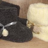 Чуни двойные з овчини чуні домашние валенки угги