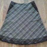 Красивая юбка шерсть, отличное сост. р. 40-42 XS