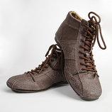 Мужские туфли в стиле Дизель коричневые