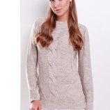 Свитер 18 вязаный свитер цвета капучино скл2