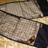 мужской шарф Aquascutum Of London шелк оригинал винтаж Италия 28Х144 см идеал