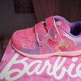 Кроссовки для девочки розовые Barbie, новые р.26,27,28,29