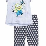 Летняя пижама H&M с миньоном, для девочки