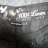 Льняные штаны -36-38 размер