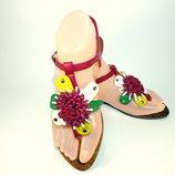 Женские стильные сандали - босоножки на низком ходу. Размер 36-41.