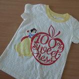 футболка новая 3 л девочке принцесса белоснежка Disney Дисней красная белая желтая
