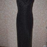 Шикарное вечернее платье строгого покроя , бронзовый металик , ткань стрейч ,