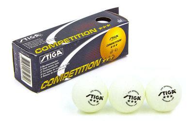 Набор мячей для настольного тенниса SGA 3 Star Competition MT-5943 3 мяча в комплекте