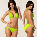 Яркий раздельный купальник для женщин 5 цветов код 2 салатовый