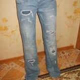 джинсы рваные 27р