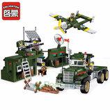 Конструктор Brick 1713 Enlighten Военная база 687 Combat zone деталей совместим с лего