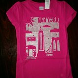 Нова рожева футболка Нью-Йорк від OLD NAVY для дівчинки.
