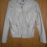 Стильная куртка-кожанка Zara р. 152 11-12 лет