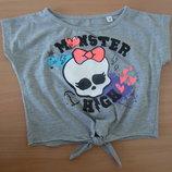 Топик девочке 122-128 см футболка Monster High оригинал прикольная