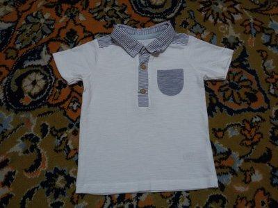 Крутая белая футболочка от George на 9-12 мес., 74-80 см
