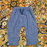 Крутые штанишки с матней от Next на 9-12 мес., 74-80 см