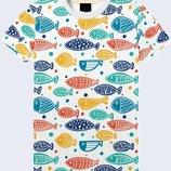 Яркая 3D футболка Рыбёшки