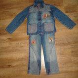 Gloria Jeans Джинсовый костюм на 3-4 года 104 см