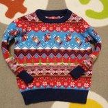 Крутой свитерок Санта от TU на 9-12 мес., 74-80 см