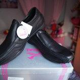 Туфли для мальчика, новые, черные, размеры 36, 38, 40, 41