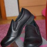 Туфли для мальчика, новые, черные, размеры 35, 36, 37, 38