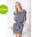 Платье-Тельняшка, 2 модельки, размеры 48-50, 50-52, 52-54 и 54-56 Одно на выбор